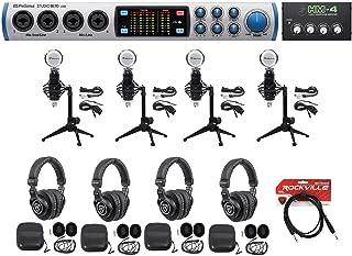 Presonus 4-Person Podcast Podcasting Kit STUDIO 1810 Interface+Mics+Desk Stands