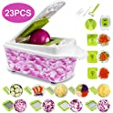 Sedhoom 23-in-1 Vegetable Chopper, Mandoline Slicer with Large Container