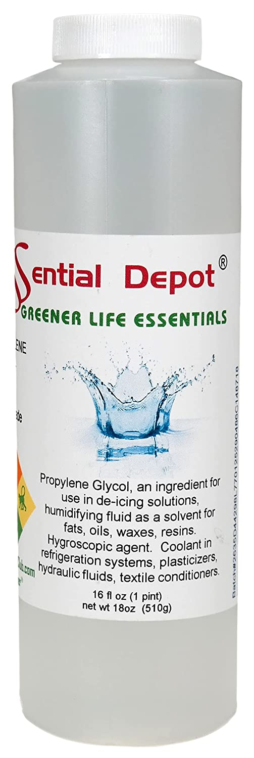 Propylene Glycol - Food Grade - USP - Kosher - 18 oz net wt in a 1 Pint Safety Sealed HDPE Container with Resealable Cap