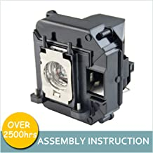 LOUTOC Projector Lamp Bulb V13H010L60/V13H010L61 for Epson ELPLP60/ELPLP61 PowerLite 420 425W 92 93 95 96W 905 1835 430 435W 915W D6150