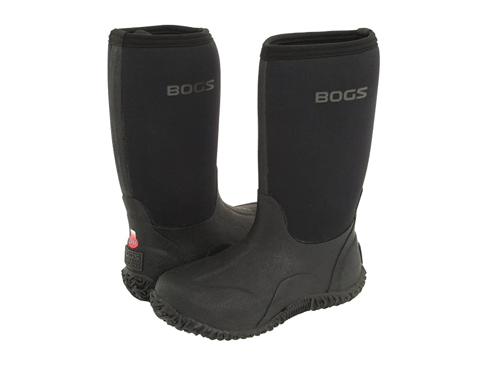 Bogs Kids Classic High No Handles (Toddler/Little Kid/Big Kid) (Black) Kids Shoes