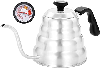 Pour Over Coffee Kettle With Thermometer,Pour Over Kettle with Thermometer,Coffee Kettle Gooseneck With Thermometer,Gooseneck Coffee Kettle Thermometer,Coffee Kettle Stainless Steel Stove Top,40 oz