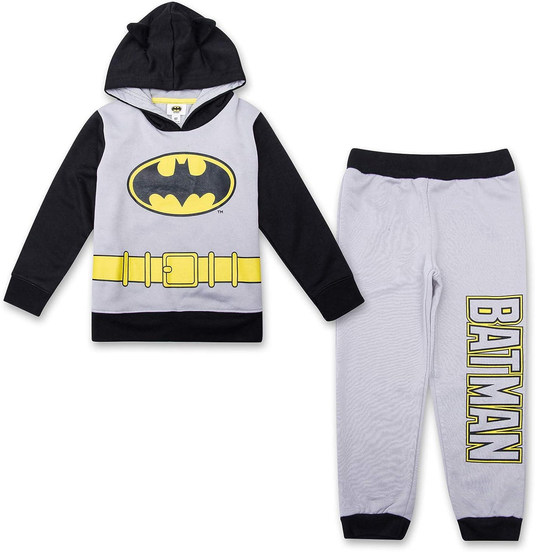 DC Comics Boys' Superhero Long Sleeve Shirt Sweatpants shipfree Max 85% OFF Set