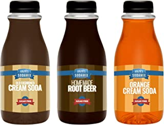 Ralph's 3 SUGAR FREE Diet Sparkling Water Soda Maker Flavor Syrup Pack | Cream Soda | Root Beer | Orange Cream Soda | Thre...