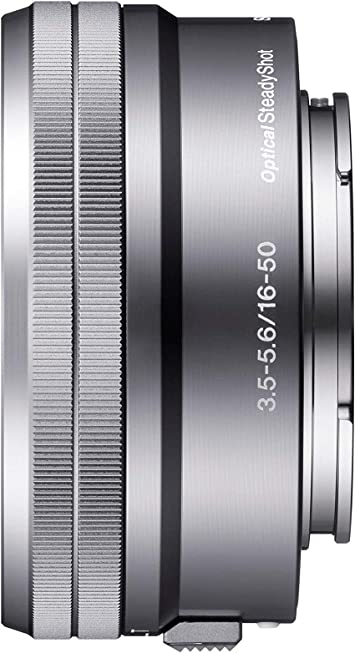 Sony Selp1650 16 50mm Power Zoom Lens Silver Camera Photo