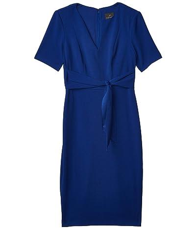 Adrianna Papell Knit Crepe Tie Sheath Dress Women