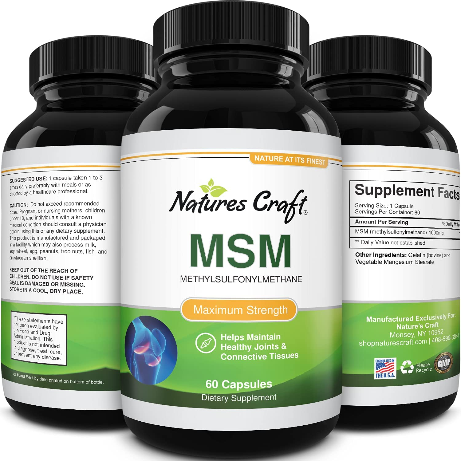 MSM Supplement For Humans – Max 78% OFF Sulfur Antioxidant Fashionable Natural Vita