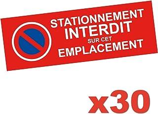 Oako Autocollant Stationnement Interdit - Lot de 30 Stickers - Permet De Signaliser Une Place De Stationnement Privée afin...