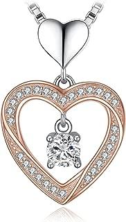 Cubic Zirconia Love Heart Pendant 925 Sterling Silver