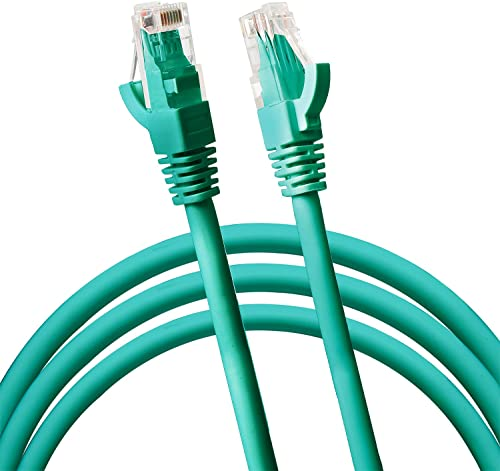 new arrival Jumbl Cat6 RJ45 Fast Ethernet Network Cable – new arrival 5 Feet Green - Connects Computer to Printer, Router, Switch Box or Local Area Network LAN Networking new arrival Cord, no Signal Loss outlet sale