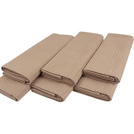 2 Geschirrtücher Baumwolle 50x70 Handtuch Küchenhandtuch Küchentücher Set Beige