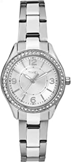 Timex Women's Quartz Watch, Analog Display and Stainless Steel Strap TW2P79800