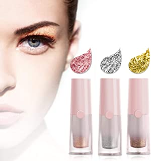 JDO Liquid Eyeshadow Glitter Eyeshadow Eyeliner Eye Shadow Eye Makeup Waterproof Long Lasting 3 Colors Pink Silver White Gold Brown