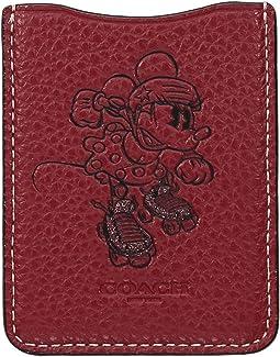 Minnie Mouse Rollerskate Phone Pocket Sticker ©Disney x COACH