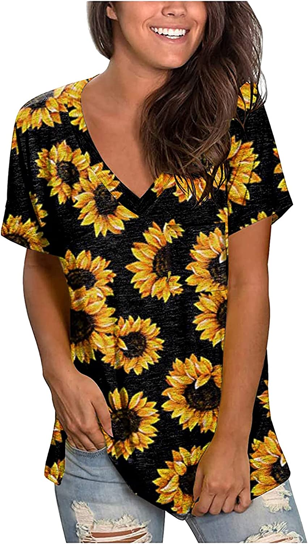 Gerichy Tops for Women, Womens American Flag Shirt Women July 4th Patriotic T-Shirt Star Stripes USA Tee Tops