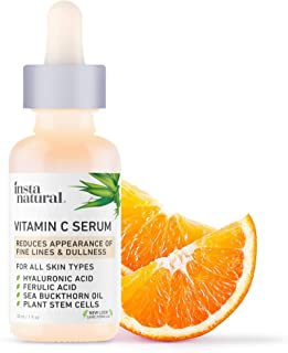 InstaNatural Vitamin C Serum with Hyaluronic Acid & Vit E – Natural &..