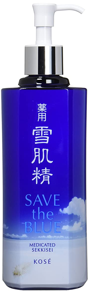 柱つぼみ精神コーセー 雪肌精 化粧水 「SAVE the BLUE」デザインボトル 500ml【限定】