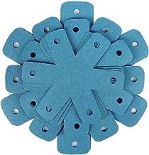 Hainice Pot Pan Protecteurs Empilant Pot Séparateurs Pads Kit Kit Anti-Rayures Tapis de Batterie de Cuisson Bleu 12pcs