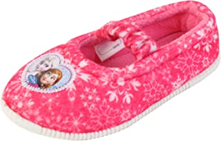 Joah Store Elsa Anna Girl's Pink Warm Comfort Indoor Slipper (Parallel Import/Generic Product)