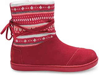 Toms Nepal Boots Fuchsia Suede Fair Isle 10006411 Youth 6