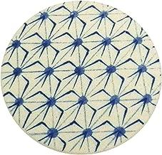 立風屋 珪藻土コースター 藍文様 あいもんよう シリーズ 麻の葉1枚 あさのはRPCS-WT-13101-01