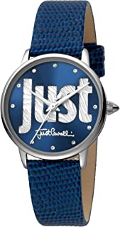 Just Cavalli Logo Women's Blue Dial Leather Analog Watch - JC1L116L0015