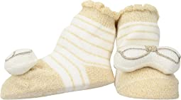 Gold Stripe Rattle Toe Socks (Infant)