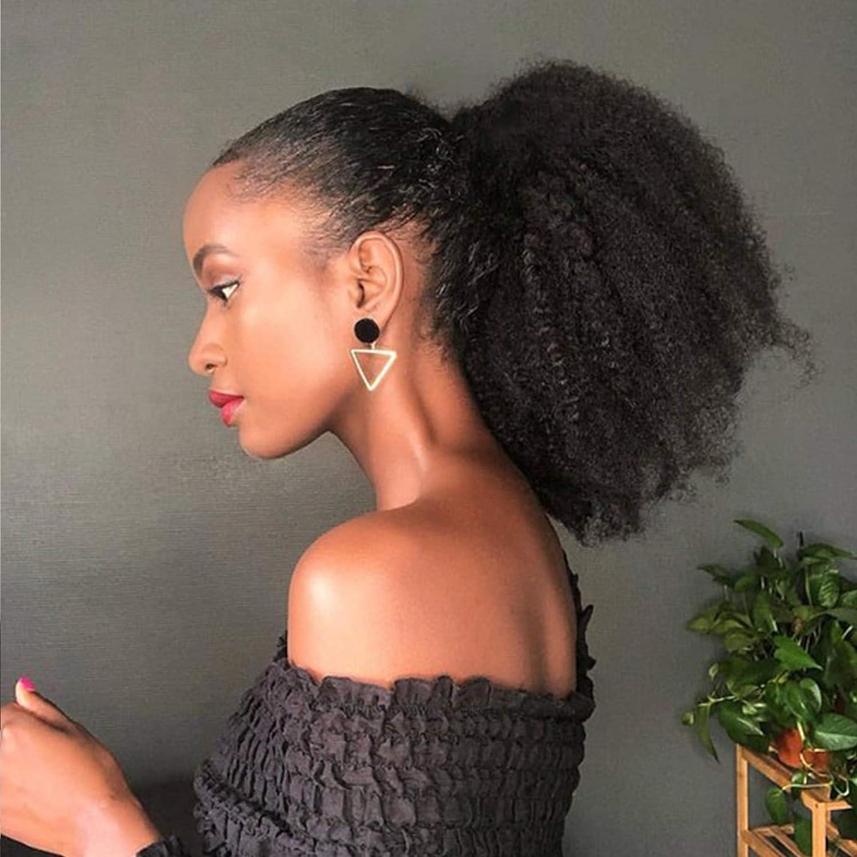 Afro Curly Baltimore Mall Puff Drawstring Ponytail Virgin Ranking TOP9 Hair Human Kinky