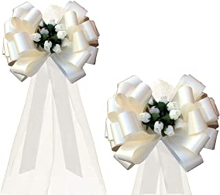 """IRIDESCENT  WEDDING  BOWS  CHURCH  RECEPTION  CHAIR  DECORATIONS  PULL BOWS  8/"""""""