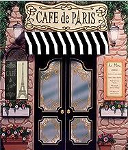Cafe De Paris Retro Stone Coffee Store Eiffel Tower Pattern Photography Backdrop Custom Photo Studio Backdrops Backgrounds for Wedding Photo Shoot