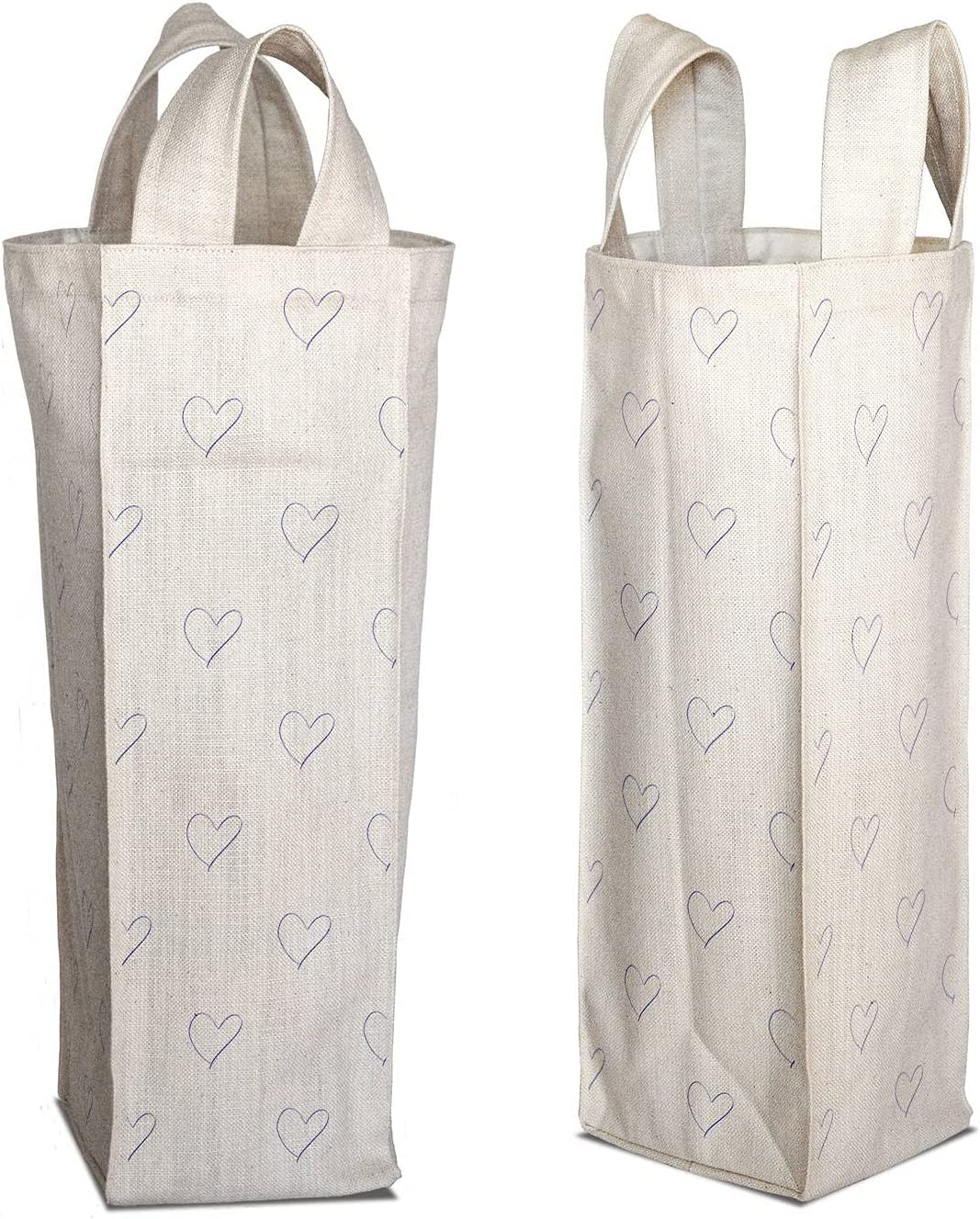 Store Bombing free shipping Bonamaison Digitally Printed Cotton Multicolor Canvas Wine Bag