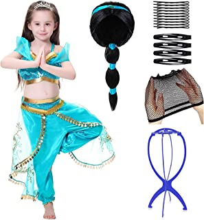 JioJioLin Girls Princess Dress Up Costumes Halloween Party Fancy Dress with A Gift Crown for Girls