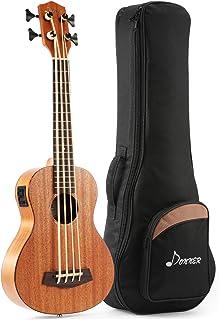 Donner - Ukulele Tenor DUB-1 Ukelele Bass Ukelele Acústico Eléctrico de Caoba 18 Trastes