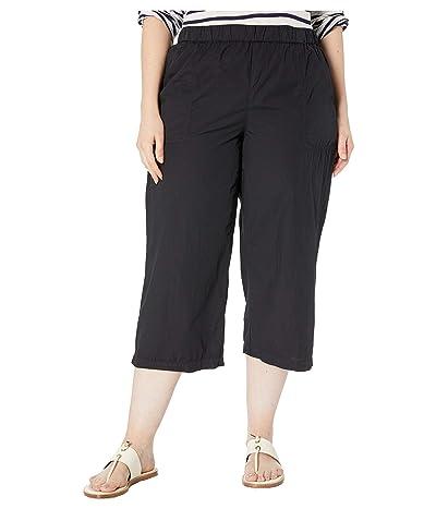 Fresh Produce Plus Size Beachcomber Cotton Poplin Capris (Black) Women