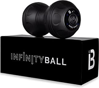 Nextrino InfinityBall 4-Speed Vibrating Massage Ball - Lacrosse Balls Meet a Vibration Foam Roller! - High Intensity for Recovery, Mobility, Pliability Training & Deep Tissue Sports Therapy
