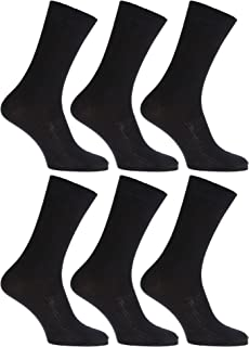 Severyn, Calcetines Sin elastico super suaves fabricado bambu anti-bacterianos hombre/caballero - Pack de 6