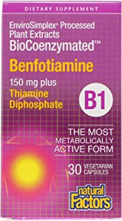 Natural Factors BioCoenzymated, B1, Benfotiamine, 150 mg, 30 Vegetarian Capsules