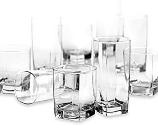 Dailyware Sterling 16-Piece Set, Modern Designed Glasses