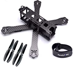 Readytosky 220mm FPV Racing Drone Frame Carbon Fiber Quadcopter Frame Kit 4mm FPV Frame Arms with 5030 Props and Lipo Battery Straps