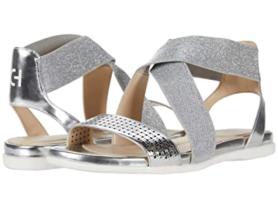 Cole Haan Grand Ambition Elastic Sandal (Silver Specchio Perferated Upper) Women