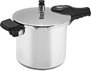 Cook Prep Eat 6 quart Pressure Cooker with Safety Features, Medium, Stovetop Pressure Cooker Express, Natural Aluminum, Si...