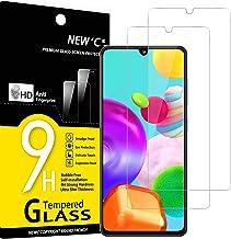 NEW'C Lot de 2, Verre Trempé Compatible avec Samsung Galaxy A41, Film Protection écran Ultra Résistant (0,33mm HD Ultra Transparent) Dureté 9H Glass