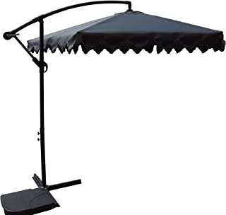 1b766e25f Pebble Lane Living 10' Offset Cantilever Patent Opening Patio Turning  Vented Market Umbrella - Grey
