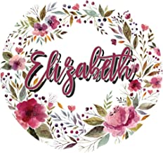 Elizabeth Floral Wreath Personalized Notebook (Female First Name Flower Notebooks)