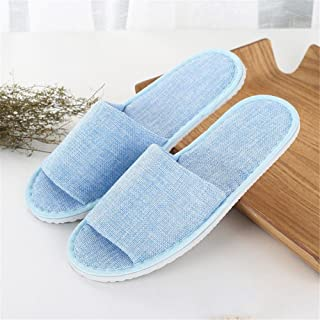 SPA slippers One Size for Guests Closed Toe Slippers for Spa, Party Guest, Hotel and Travel, Washable and Non-Disposable,Linen