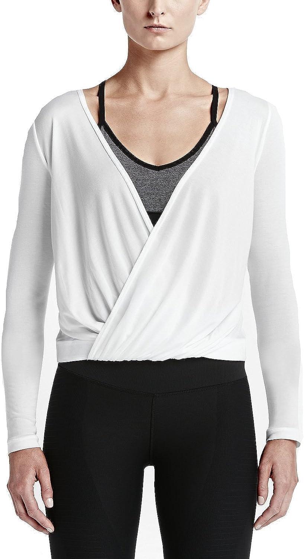 Nike Draped Reversible Top Fitness–T-Shirt und übung für Damen