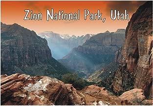 Zion National Park, Utah, Mountains, National Monument, Orange Sky, UT, Travel, Souvenir, Refrigerator, Locker Magnet 2 x 3 Fridge Magnet