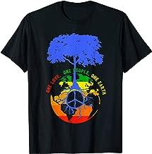 World Peace Tree Earth Day Love Hippie Environment Tee