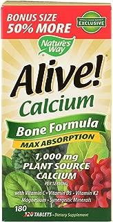 Nature's Way, Calcium Alive Bonus Pack, 180 Tablets