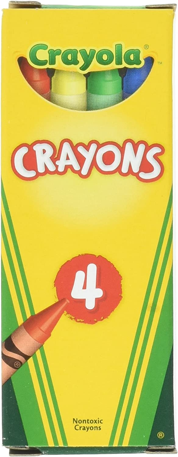 Crayola 4 store ct Crayons - per 24 Boxes Pack Memphis Mall case